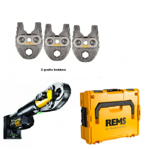 Rems Mini-Press S 22V ACC basis Pack perstang + 3 Bekken naar keuze L-Boxx