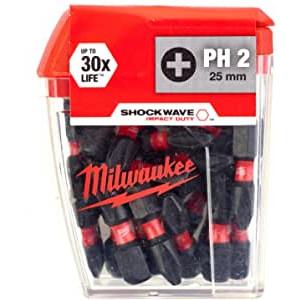 Milwaukee Shockwave 25mm PH2 (25 stuks)