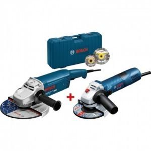 Bosch Blauw GWS22-230JH + GWS7-125 Met gratis 2 diamantschijven.