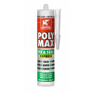 Griffon PolyMax Fix & Seal Express crystal clear 300G - 12 stuks - 6150452
