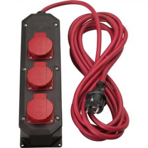 Kelfort verdeeldoos nylon 3x2.5 met 3 stopcontacten 5m