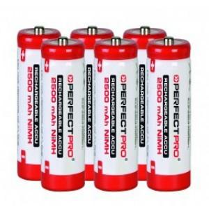 Perfectpro Batterijen AA-Cel NiMH 2500 mAh, 6 stuks