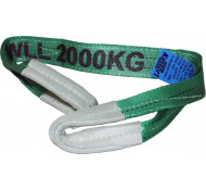 Kelfort Hijsband groen Lengte 2 meter max 2 ton