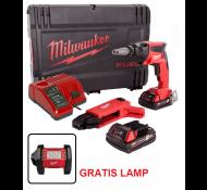 Milwaukee Promo Set M18 FSGC-202X  Gipsplaat schroefmachine + Gratis Area Lamp