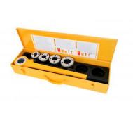 Rems Eva Set R 1/2-3/4-1-1 1/4 inch Handdraadsnij-ijzer met snelwisselsnijkoppen