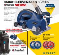 Carat SL-1505 sleuvenzaag Dustec 2500 WATT 50 MM ZAAGDIEPTE