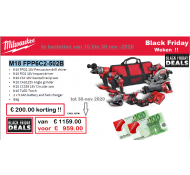 Milwaukee M18 FPP BLACKFRIDAY Powerpack combo set 18 Volt met 6 machines