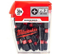 Milwaukee Shockwave 25mm PH2 (25 stuks)