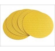 Flex schuurpapier velcro geperforeerd D225 P120 25 stuks 282405