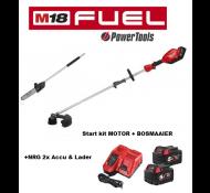 Milwaukee M18 FOPHLT- KIT502 Accu Tuingereedschap Combi Motor+Bosmaaier+Kettingzaag+NRG accu set