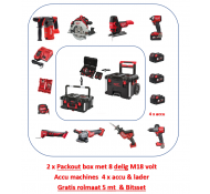 Milwaukee M18 FPP8 PACKOUT Powerpack combo set 18 Volt met 8 machines
