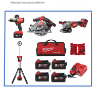 Milwaukee Powerpack M18Bag 4X4  18volt accu + Tas  +Bit's