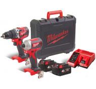 Milwaukee COMBOPACK CBLPP2A- M18CBLPD + M18CBLID