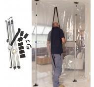 Carat Stofwand demonteerbaar 4 meter hoog en 5 meter breed instelbaar met 2 ritsen