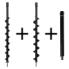 Kibani Grondboren set 60+80+Verlengstuk tbv GTD5212 grondboor 50CM